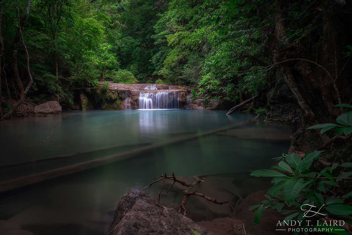 Long Exposure Photography, Erawan Falls Kanchanburi Thailand